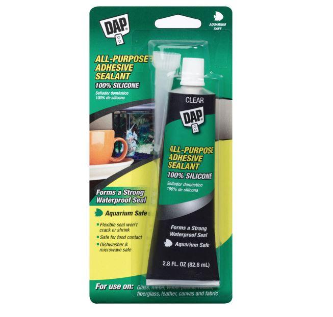 Dap Aquarium Silicone Sealant Clear 2 8oz