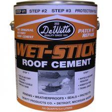 Wet-Stick Roof Cement, Premium Grade Qt