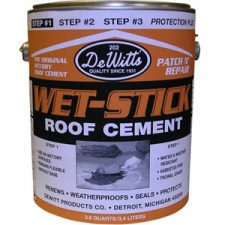 Wet-Stick Roof Cement - Premium Grade 5-Gallon *This item may have shipping restrictions.