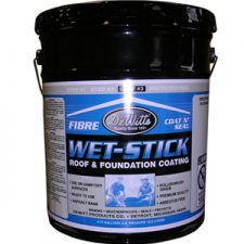 Wet-Stick Fibred Roof Coating Premium Grade Gallon *This item may have shipping restrictions.