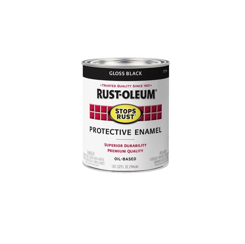 Rustoleum Professional High Performance Oil Based Enamel Gloss Black Quart  7779