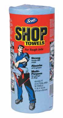 Shop Towels Blue Roll/55