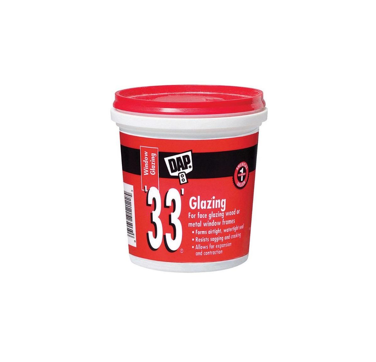 Dap 33 Glazing Compound White 1 2pt Warren Pipe And Supply