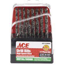 17 Piece High Speed Steel Drill Bit Set