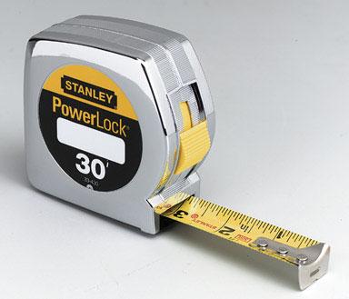 """30ft x 1"""" Stanley Powerlock Tape Rule"""