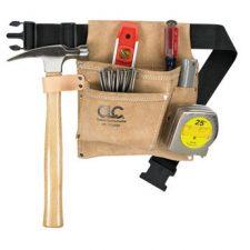 "Custom Leathercraft 3"" Pocket Tool And Nail Belt"