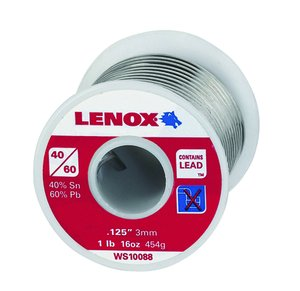 Lenox 40/60 Leaded Wire Solder 1lb Spool