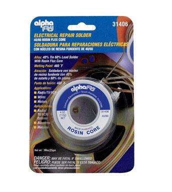 General Electrical Rosin Core Solder 4oz