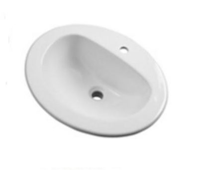 "20"" x 17"" Gerber Oval Self Rimming Single Hole Lav White Vitreous China."
