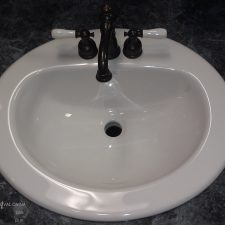 """19"""" Gerber Round Self Rimming Lav 4"""" Centers White Vitreous China."""