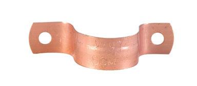 """1/4"""" 2-Hole Copper Tubing Strap"""