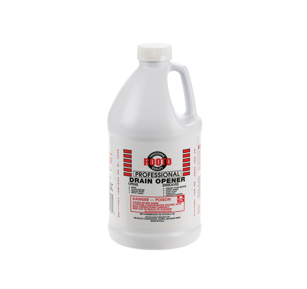 Rooto Pro Drain Opener Sulfuric Acid 1 2 Gal Use Only As
