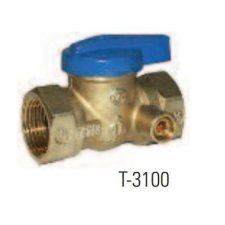 "3/4"" IPS Gas Ball Valve with 1/8"" NPT Side Tap"