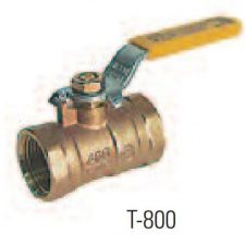 """2-1/2"""" IPS Conventional Port Forged Brass Ball Valve"""