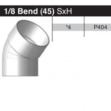 """4"""" 45 Degree Sewer & Drain Elbow SxH P404"""