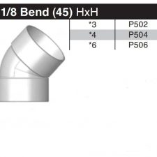 "4"" 45 Degree Sewer & Drain Elbow HxH P504"