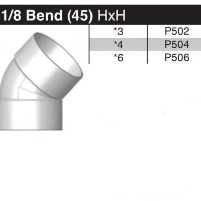 "6"" 45 Degree Sewer & Drain Elbow HxH P506"