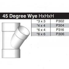 """6"""" X 4"""" Sewer & Drain Wye HxHxH P316"""