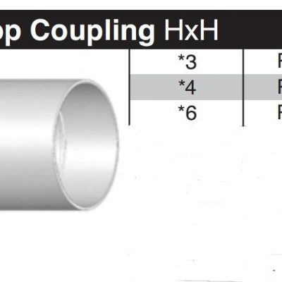 "3"" Sewer & Drain SDR35 Coupling P602"