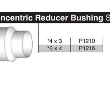 """6"""" x 4"""" Sewer & Drain Concentric Reducing Bushing P1216"""