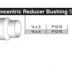 "6"" x 4"" Sewer & Drain Concentric Reducing Bushing P1216"