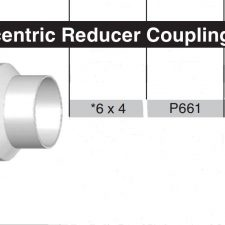 """6"""" x 4"""" Sewer & Drain Concentric Coupling HxH P661"""