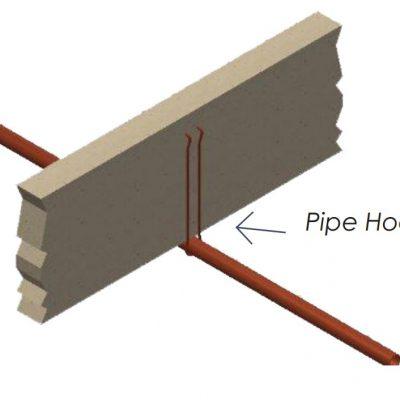 """1"""" x 6"""" Steel Pipe Hook"""