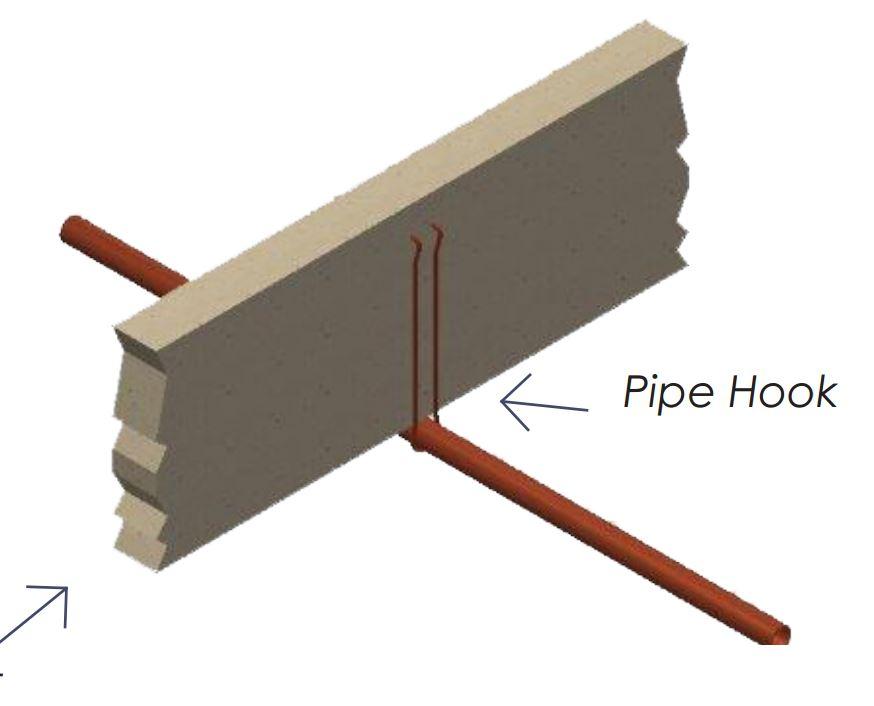 """1/2"""" x 6"""" Steel Pipe Hook"""