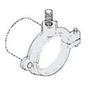 "1-1/2"" Split Bolt Clamp Plain"