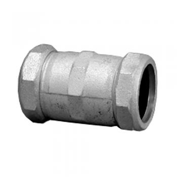 "1"" IPS Galvanized Long Compression Coupling - Warren Pipe ..."