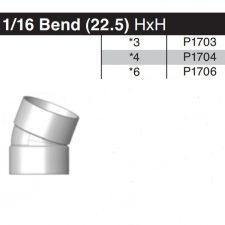 "3"" 22-1/2 Degree Sewer & Drain Elbow HxH P1703"