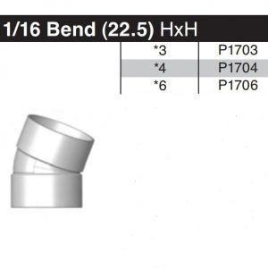 "4"" 22-1/2 Degree Sewer & Drain Elbow HxH P1704"
