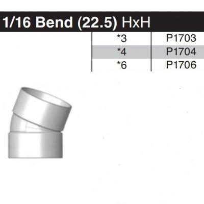 "4"" 22-1/2 Degree Sewer & Drain Elbow HxH P1704"