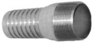 "1-1/4"" Zinc Insert Combination Nipple"