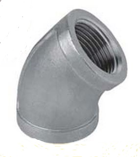 """1/8"""" Stainless Steel 45 Degree Elbow"""