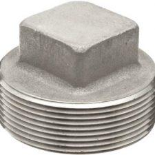 "1/4"" Stainless Steel Square Head Plug"