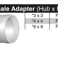 "3"" Hub x 3"" Female Thread SDR35 Adapter P1403"