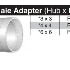 "4"" Hub x 4"" Female Thread SDR35 Adapter P1404"