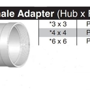 "4"" Hub x 4"" Female Thread SDR35 Adapter P1404"