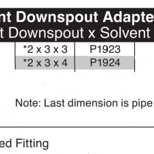 """2"""" x 3"""" x 4"""" Flushmount Downspout (H) x Solvent Sewer Hub Adapter P1924"""