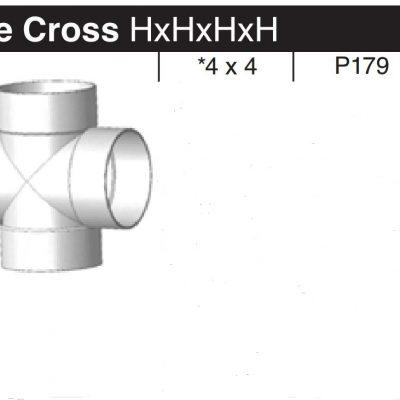 """4"""" Sewer & Drain Tee Cross HxHxHxH P179"""