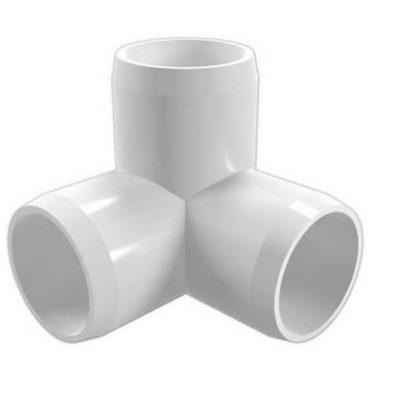 "1"" 3-Way PVC Furniture 90 Deg. Elbow"