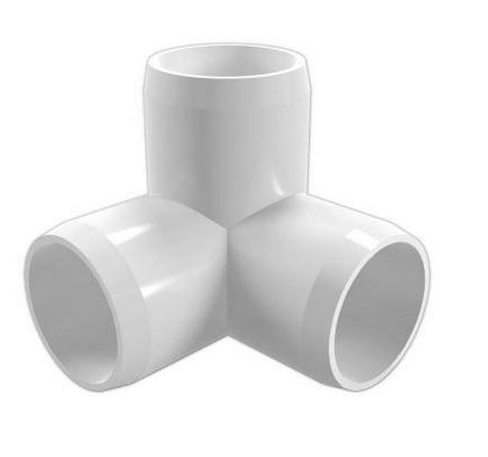 "1-1/4"" 3-Way PVC Furniture Elbow"