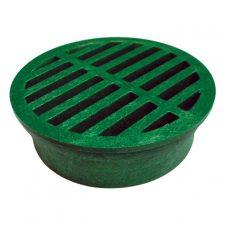 "4"" Round Corrugated Grate Green"