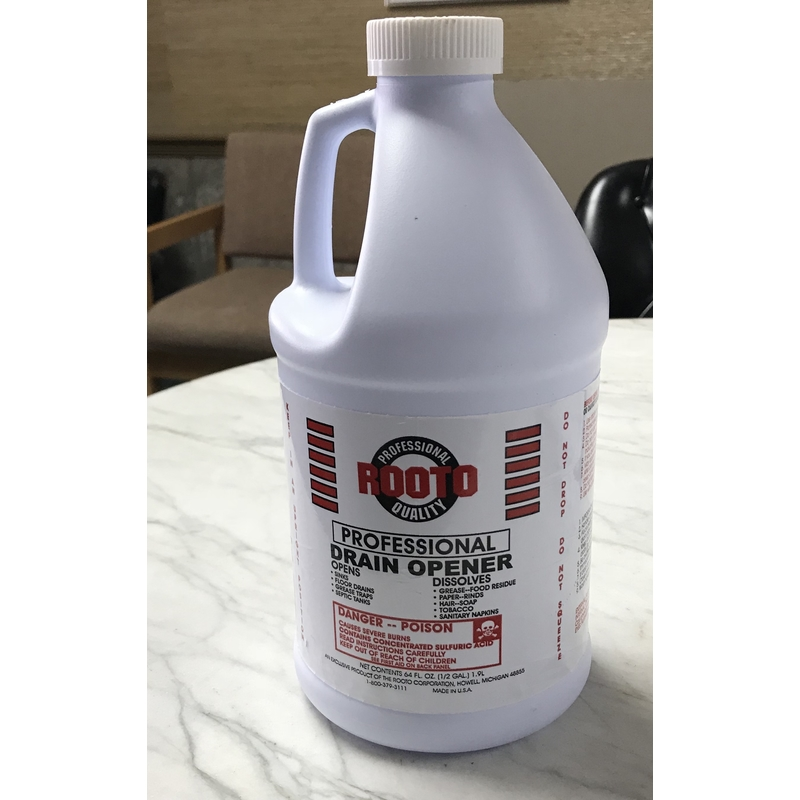 Rooto Pro Drain Opener Sulfuric Acid Gal Use Only As