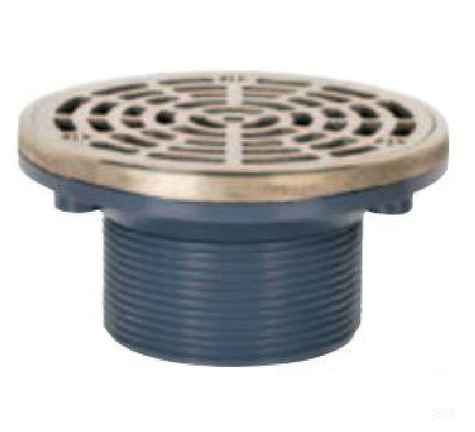 On Grade Adjustable Round Floor Drain 3 Abs Mip Thread Nickel Bronze Brass Pictured Warren Pipe And Supply