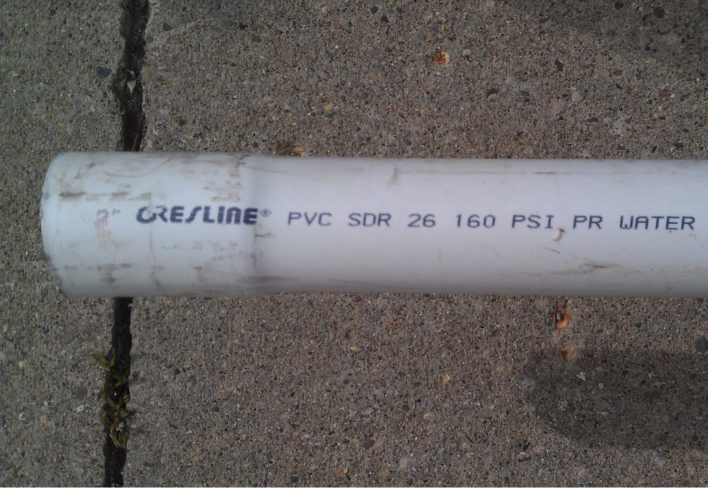 1 1 2 Quot Sdr 26 Pvc Pipe By The Foot Warren Pipe And Supply