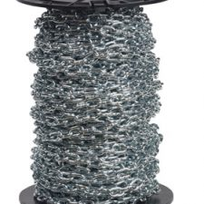 #2 Machine Straight Chain Zinc Plated/Blu-Krome Finish