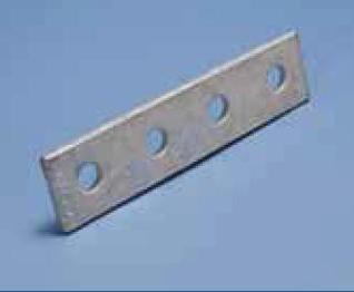 """7-1/4"""" Unistrut 4-Hole Splice Plate"""