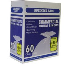 55 Gallon Professional's Choice Commercial Drum Liners .67Mil Clear 60pk